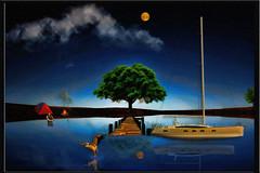 serenity (sw2018) Tags: boat lake camping tent fishing dusk night moon