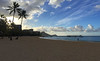 Early Morning on Fort DeRussy Beach with Diamond Head (bhotchkies) Tags: hawaii waikiki beach diamondhead fortderussybeach morning sky clouds
