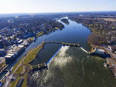 Phoenix (Matt Champlin) Tags: phoenix drone aerial aerialphotography dronephotography drones village cny flx newyorkstate spring springtime beautiful designs patterns owsego river life man change earthday 2018 april watershed waterways canal manmade