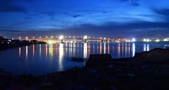 Marcelo Fernan Bridge (tanreineer) Tags: bluehour reflection sunset marcelofernanbridge philippines cebu longexposure nikon