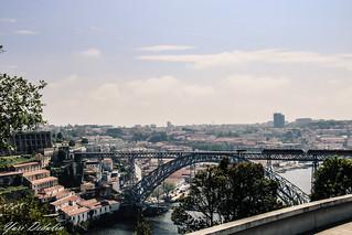View on Dom Luís I Bridge (Porto, Portugal)