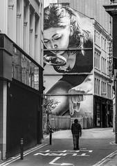 Smug (burnsmeisterj) Tags: streetart smugone smug olympus omd em10 monochrome blackandwhite mono glasgow