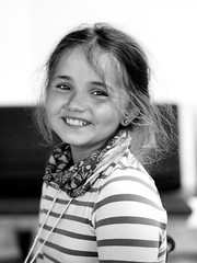 Eriell (livsillusjoner) Tags: monochrome bw blackwhite blackandwhite black white grey stripes girl kid kids child children cute young portrait people