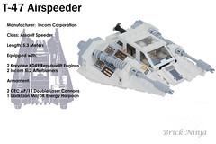 T-47 modified Snowspeeder (TheBrickNinja) Tags: lego star wars movies spaceship starfighter speeder minifig scale custom model awing moc own creation legomoc interceptor