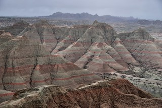 Clearing Overcast Skies Over Badlands from Panorama Point (Badlands National Park)