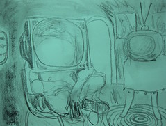 Lost In '75 (giveawayboy) Tags: pencil charcoal water drawing sketch eraser fch tampa artist giveawayboy billrogers 1975 magazine memory
