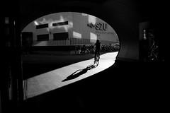 SZU (maekke) Tags: zürich giesshübel szu reflection evening shadow shadows shadowplay bw noiretblanc tunnel architecture 35mm fujifilm x100t switzerland streetphotography 2008 silhouette