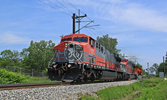 GECX 6002 (GLC 392) Tags: cw60ac ac6000cw ac60cw big six 6 6002 6000 ge es44c4 bnsf general electric lease fleet test track east erie commercial burlington northern santa fe pa pennsylvania under wire railroad railway train harbor creek 6719