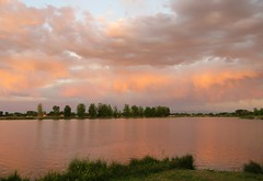 Summer Evening at the Lake (Patricia Henschen) Tags: blancavista alamosa colorado park sunset clouds wetland mountains massif sangredecristo summer sanluisvalley lake