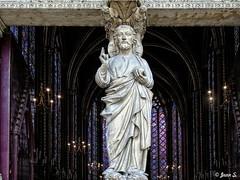 La bénédiction (Jean S..) Tags: church religion statue indoors old ancient