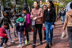San Francisco 2018 (burnt dirt) Tags: sanfrancisco california vacation town city street road sidewalk crossing streetcar cablecar tree building store restaurant people person girl woman man couple group lovers friends family holdinghands candid documentary streetphotography turnaround portrait fujifilm xt1 color laugh smile young old asian latina white european europe korean chinese thai dress skirt denim shorts boots heels leather tights leggings yogapants shorthair longhair cellphone glasses sunglasses blonde brunette redhead tattoo pretty beautiful selfie fashion japanese pattern bag red blue