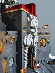 Karak Kadrin. Main Gate (Dwalin Forkbeard) Tags: dwarf lego moc fantasy warhammer castle fortress citadel stronghold mountain slayer