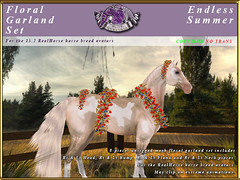 E-RH-FloralGarlands-EndlessSummer (honeyheart1) Tags: sl secondlife eliteequestrian horse realhorse garland floral flower wedding