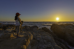 An Asilomar sunset (Rajani Chand) Tags: nikon d750 nikkor 1424mm sunset asilomar monterey beach water rocks sea happiness enjoy womanenjoyingnature
