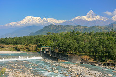 Pokhara (RunningRalph) Tags: machhapuchhre mountain nepal river sarangkot pokhara westerndevelopmentregion np