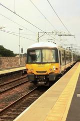 DCL1-44 EMU arrival of 365-525 at Linlithgow Station (timonrose1) Tags: happytrains emu linlithgow westlothian edinburghglasgowrailway scotrail class365emu