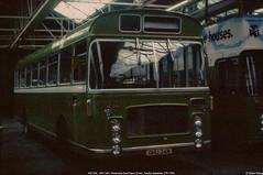 WE1326,  OHU 34M, Winterstoke Road Depot, September 27th 1983 a (Bristol RE) Tags: we1326 1326 c1326 ohu34m bristolre rell rell6l ecw b44d we winterstokeroaddepot bristolomnibus