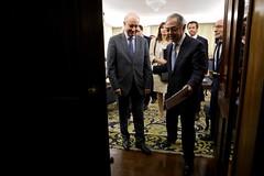Rui Rio em reunião com o Tribunal de Contas.