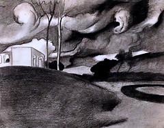 IMG_5315Y Joan Gonzalez Pellicer. 1868-1908. Barcelone. Paisaje con nubes de tormenta. Landscape with storm clouds.  vers 1902.     Barcelone  Museu Nacional d'Art de Catalunya (MNAC) (jean louis mazieres) Tags: peintres peintures painting musée museum museo espagne spain espana barcelone barcelona museunacionaldartdecatalunya mnac joangonzalezpellicer