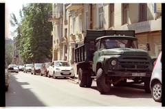 ZIL on Chekhovsky lane (mgerasym) Tags: kyiv kiev ukraine ua film 35mm nikonf70 voigtlandernokton58mmf14slii lomographycn100