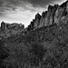 Casa Grande and the Peaks of The Pinnacles (Black & White, Big Bend National Park)