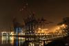 Terminal Burchardkai Waltershof, Hamburg (stein.anthony) Tags: hafen elbe hamburg wasser langzeitbelichtung longexposure nachtaufnahme night nightscape nightime bynight container terminal