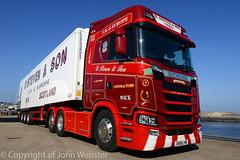 Scania S580 V8, SK18LVM (14/04/2018) (blackwatch55013) Tags: scania s580v8 wick scotland
