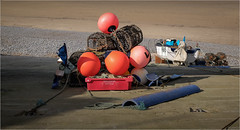 On the slipway. (David M:) Tags: sheringham boat fishing buoy colour rope lobster crab pot norfolk coast