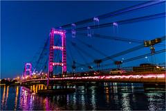 Puente Colgante, Santa Fe. Argentina (Lucio_Vecchio) Tags: nikon d5500 puente agua street bridge argentina nocturna noche