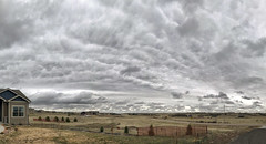 Unusual Textured Overcast (Northern_Nights) Tags: overcast cloudscape cheyenne wyoming cellphone texture lateafternoon gray