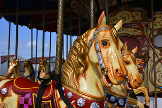 All the fun of the fair (Carousel ride Herne bay pier)  -  (Selected by GETTY IMAGES)
