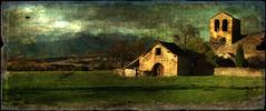 una vieja tabla del Pirineo ?? (desde mi corazón) Tags: pirineos ermita iglesia románico casa rural pinturadigital textura