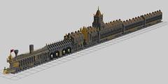 The Rail Cathedrale 1 (Worrox) Tags: lego train transport steampunk fantastic rails track locomotiv