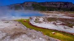 Biscuit Basin 2 (Chief Tendoy) Tags: yellowstonenationalpark wyoming unitedstates geyser colorful yellow blue steam landscape yextwyoming