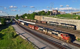 KCS and BNSF Trains in Kansas City, MO