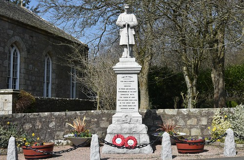 Udny War Memorial  - Aberdeenshire Scotland - 15/4/2018