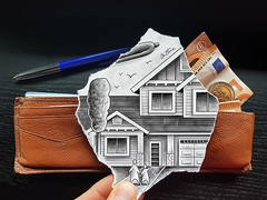 Pencil Vs Camera - Investment (Ben Heine) Tags: pencilvscamera drawing photography wallet portefeuille money argent invest future credit house maison buyahouse architecture benheineart art creative save epargne investissement dessin expensive dream reve