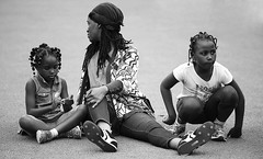 Momma An Pickney (Anthony Mark Images) Tags: people portrait mother children momma pickney monochrome blackandwhite field sitting bandana dreadlocks braidedhair prettylady cutechildren candid socamusic caribbeanfestival iriemusicfestival2018 mississauga ontario canada nikon d850