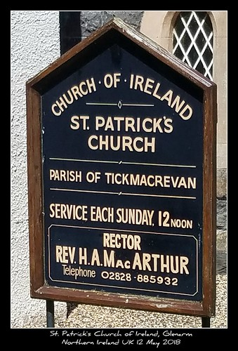 St. Patrick's Church of Ireland, Glenarm Northern Ireland UK 12 May 2018
