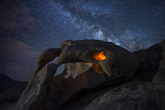 Eye of the Cyclops (Night Scapes) Tags: steverengers cyclops nightskyphotography lonepine alabamahills milkyway
