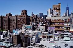 Manhattan Bridge - vue sur Two Bridges 1 (luco*) Tags: usa united states america étatsunis damérique new york city manhattan two bridges bridge pont vue view downtown rue street
