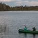 Helena e Marcus de canoa