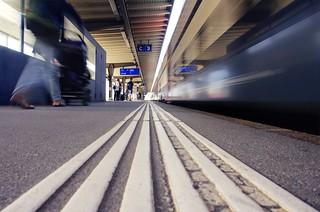 Motion at the platform