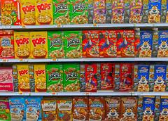 Sugar, Sugar (oybay©) Tags: breakfast cereal kelloggs luckycharms magically delicious cornpops sugarpops applejaclks frootloops frostedflakes color colors colorful boxes frys suncitywest arizona enmasse sugar sugarhigh