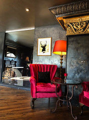 The Culver Hotel - Culver City, California (ChrisGoldNY) Tags: chrisgoldny chrisgoldphoto chrisgoldberg forsale licensing bookcover albumcover iphone socal california cali la interiors interiordesign red chairs furniture lamps art losangeles culvercity culverhotel hotels design