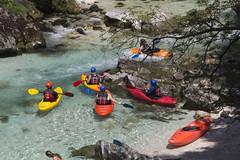 kayaking soča wild waters (cyberjani) Tags: river soča mountains alps valley trenta wood tree forest landscape park rock mountain water mountainside