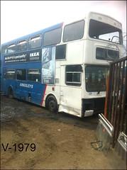 2715 (A715 UOE) ((Stop) The Clocks) Tags: 2715 a715uoe westmidlandstravel mcw mcwmetrobus scrap withdrawnbuses scrapbuses kingsleys wmpte barnsley
