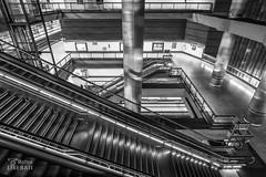 Levels (Matteo Liberati) Tags: underground metropolitana metro madrid spain chamartín españa spagna bw byn bn monocrome monocromatico monochrome stairs scale escaleras livelli niveles levels architettura arquitectura architecture inside interior interno