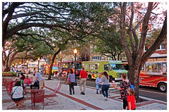 Food Truck Night - Munn Park, Lakeland, FL (TravelsWithDan) Tags: foodtrucks munnpark lakeland florida liveoaktrees tables candid picnic city southerncharm canong9x ngc