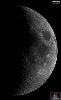 Last Evening's Moon - July 18, 2018